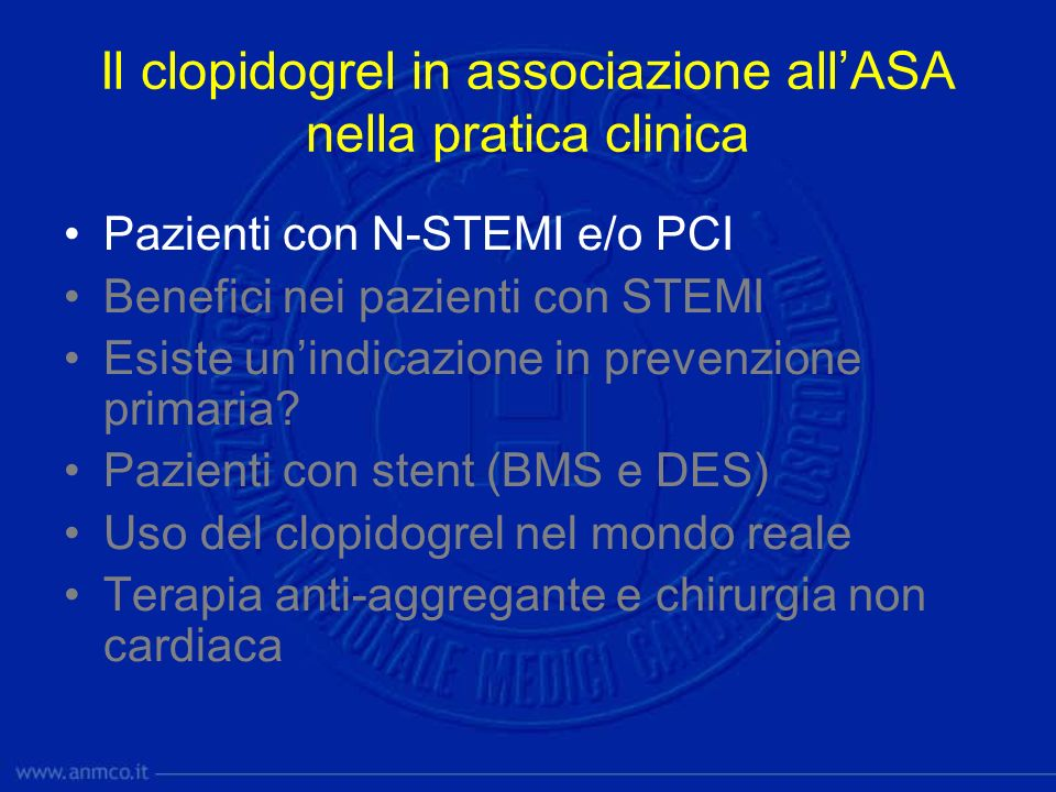 Clopidogrel Evidence: ACS (Non-STEMI - UA) Clopidogrel in Unstable Angina to Prevent Recurrent Events (CURE) Trial The CURE Trial Investigators.