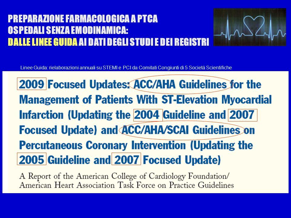 Use of Glycoprotein IIb/IIIa Receptor Antagonists in STEMI LUTILITA DI ANTI IIb/IIIa COME STRATEGIA FARMACOLOGICA DI PREPARAZIONE ALLA ANGIOPLASTICA prior to arrival in the cardiac catheterization laboratory for angiography and PCI is uncertain.