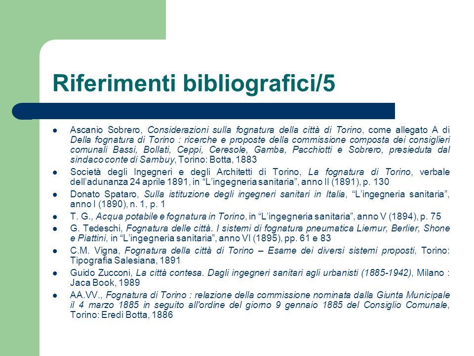 Riferimenti bibliografici/5 Ascanio Sobrero, Considerazioni sulla fognatura della città di Torino, come allegato A di Della fognatura di Torino : rice