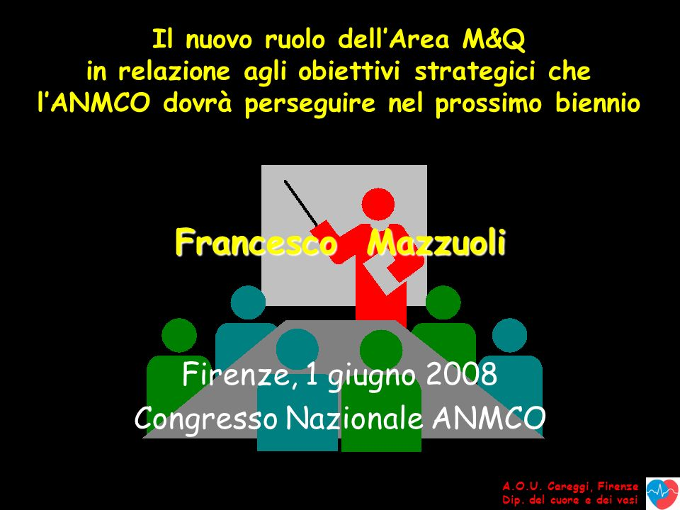 A.O.U.Careggi, Firenze Dip. del cuore e dei vasi I punti fondamentali 1.Ha ragione di esistere .