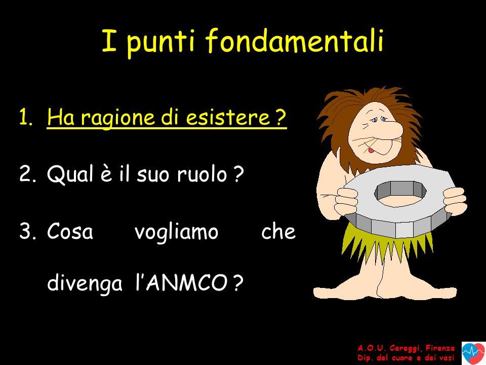 A.O.U. Careggi, Firenze Dip. del cuore e dei vasi I punti fondamentali 1.Ha ragione di esistere .