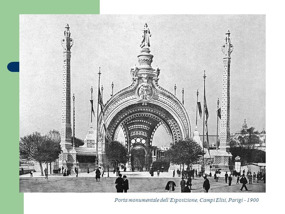 Porta monumentale dellEsposizione, Campi Elisi, Parigi - 1900