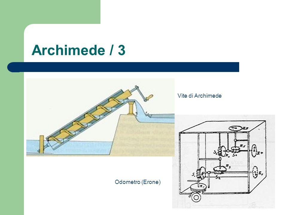 Archimede / 3 Odometro (Erone) Vite di Archimede