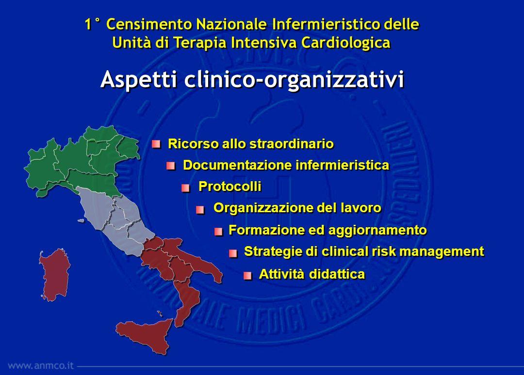Ricorso allo straordinario Documentazione infermieristica Protocolli Organizzazione del lavoro Formazione ed aggiornamento Strategie di clinical risk