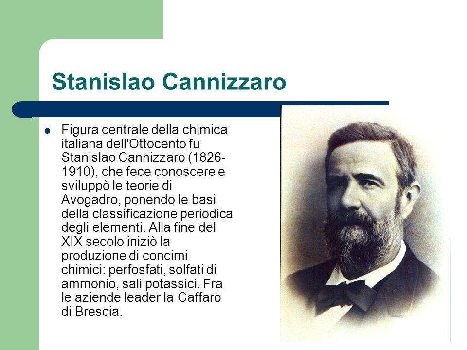 La Montecatini e Donegani La più importante azienda chimica italiana è stata la Montecatini: fondata nel 1888, assunse grande sviluppo sotto la direzione di Guido Donegani (1877-1947), che ne fece l azienda leader nella chimica industriale.