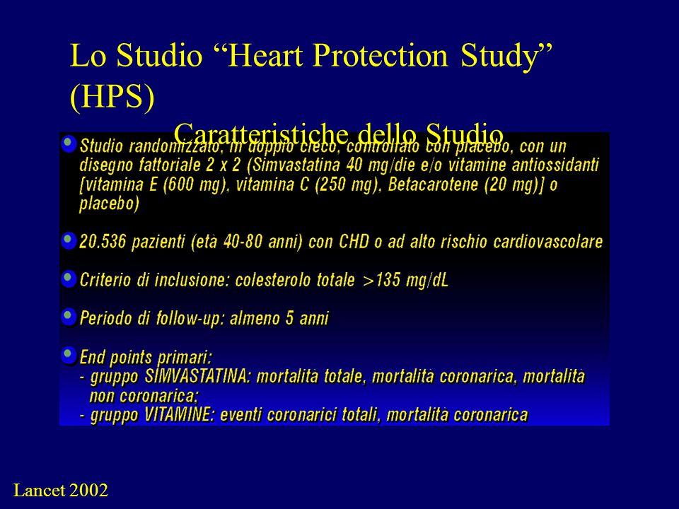 Lo Studio Heart Protection Study (HPS) Caratteristiche dello Studio Lancet 2002