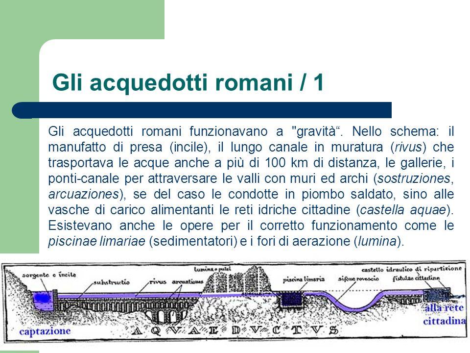 Gli acquedotti romani / 1 Gli acquedotti romani funzionavano a