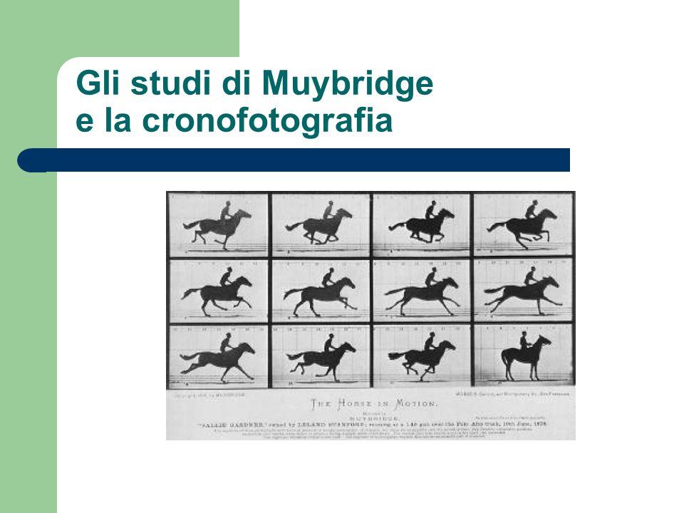 Gli studi di Muybridge e la cronofotografia