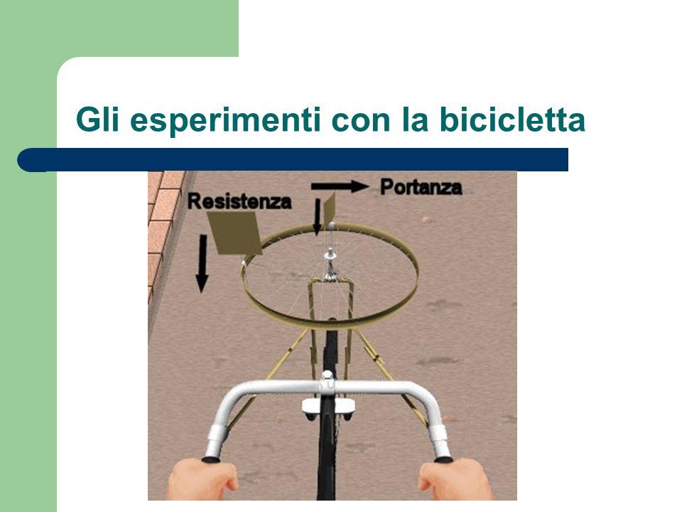 Gli esperimenti con la bicicletta