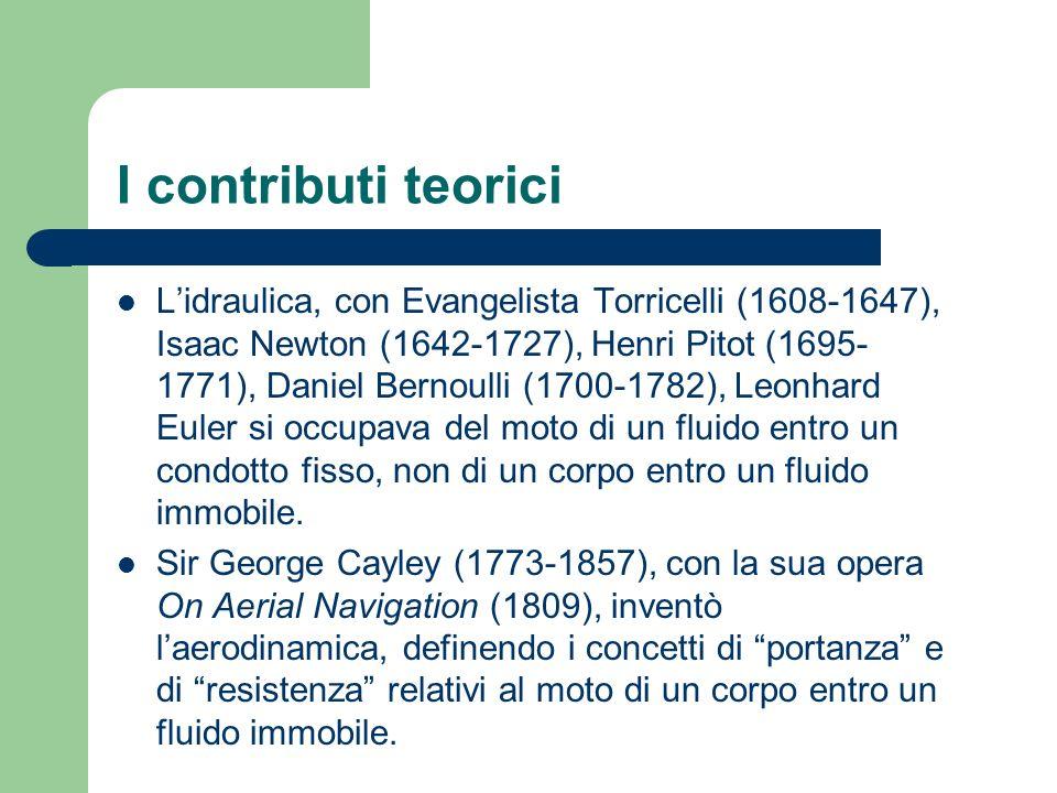 I contributi teorici Lidraulica, con Evangelista Torricelli (1608-1647), Isaac Newton (1642-1727), Henri Pitot (1695- 1771), Daniel Bernoulli (1700-17