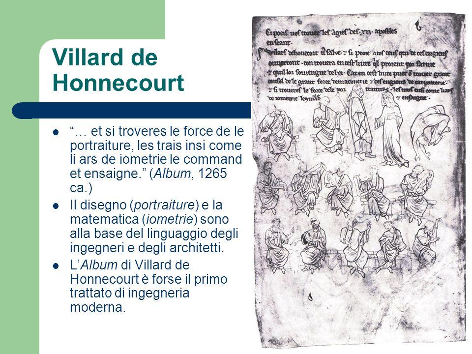 Villard de Honnecourt … et si troveres le force de le portraiture, les trais insi come li ars de iometrie le command et ensaigne. (Album, 1265 ca.) Il