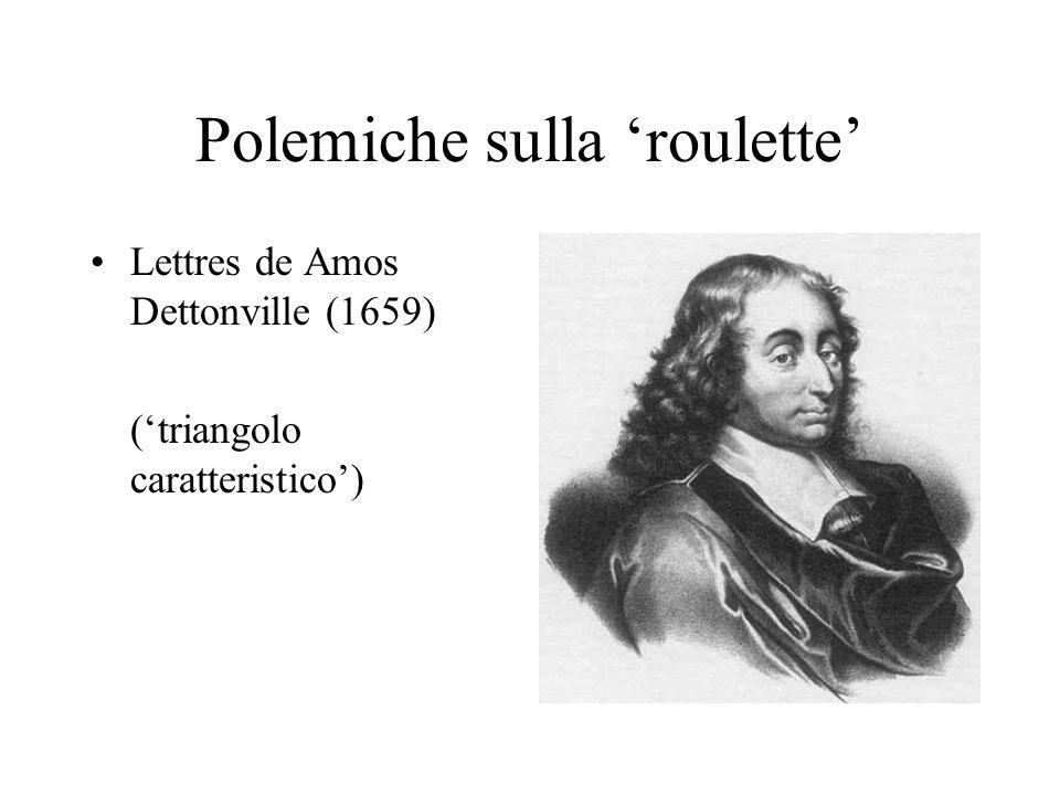 Polemiche sulla roulette Lettres de Amos Dettonville (1659) (triangolo caratteristico)