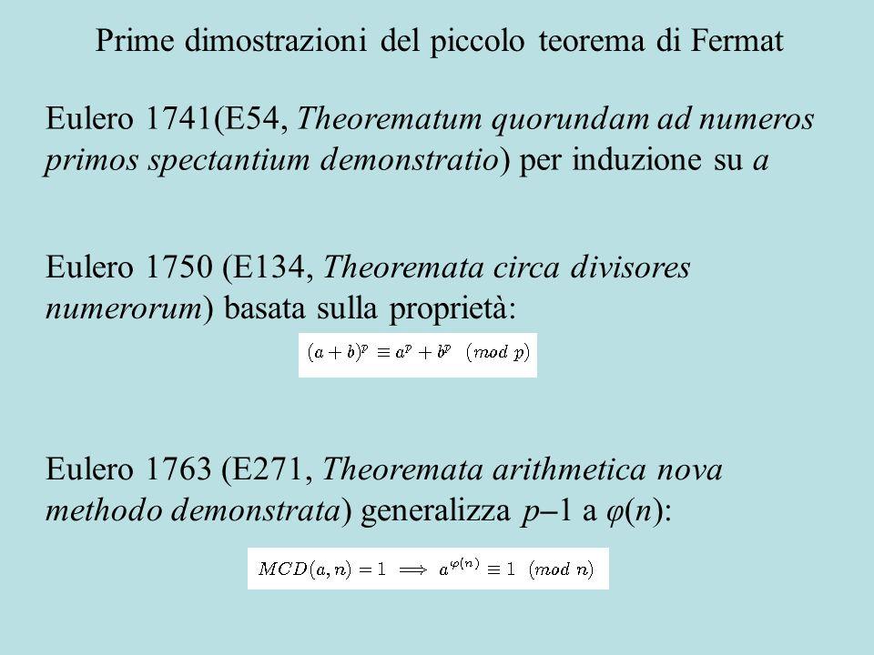 L infinità dei primi Prima dimostrazione in Euclide (IX,20) Eulero, E72, Variae observationes circa series infinitas (1744): Inoltre: La serie degli inversi dei numeri primi è infinitamente minore della serie armonica il valore della serie armonica è uguale al logaritmo di infinito La prima somma è quasi il logaritmo della seconda
