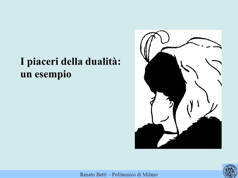 I piaceri della dualità: un esempio Renato Betti – Politecnico di Milano