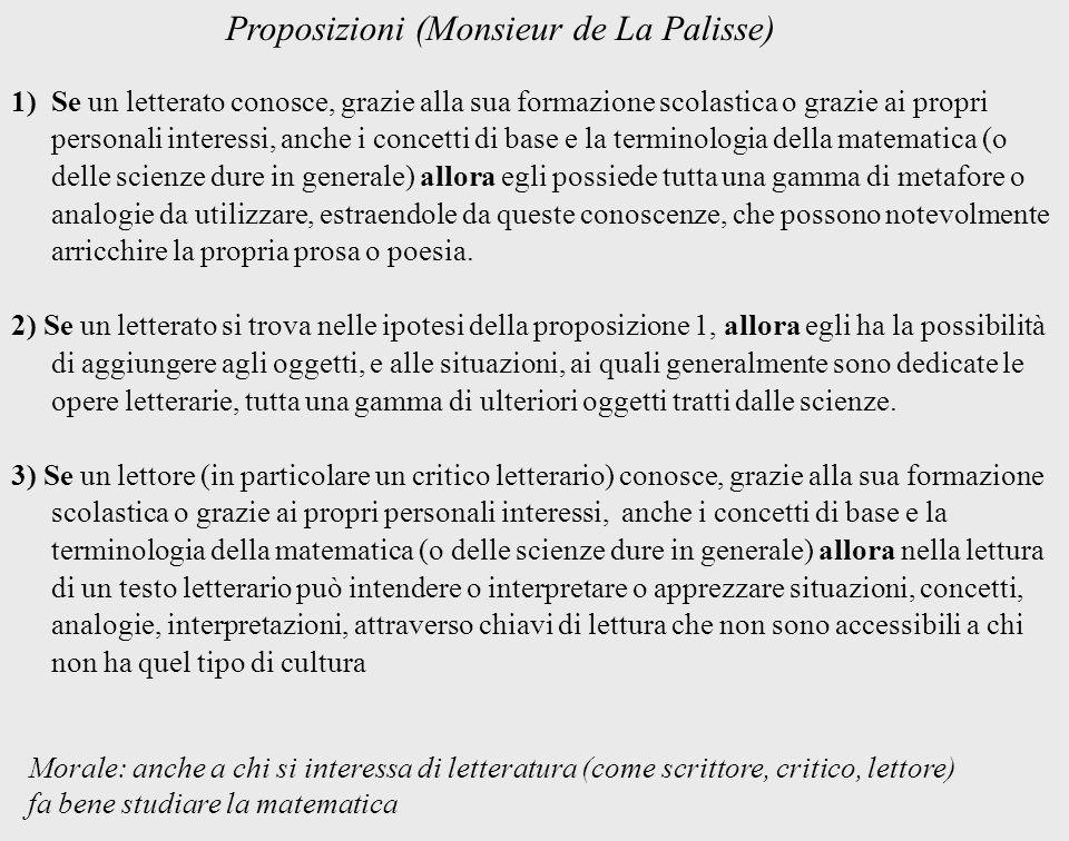 1)Se un letterato conosce, grazie alla sua formazione scolastica o grazie ai propri personali interessi, anche i concetti di base e la terminologia de