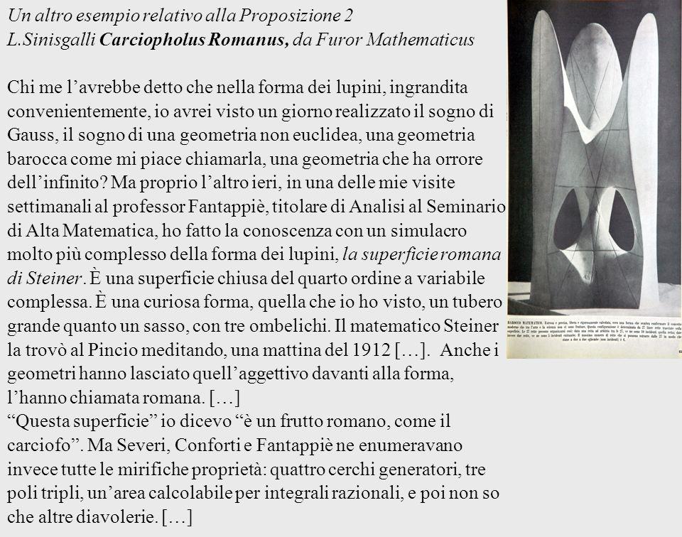 Un altro esempio relativo alla Proposizione 2 L.Sinisgalli Carciopholus Romanus, da Furor Mathematicus Chi me lavrebbe detto che nella forma dei lupin