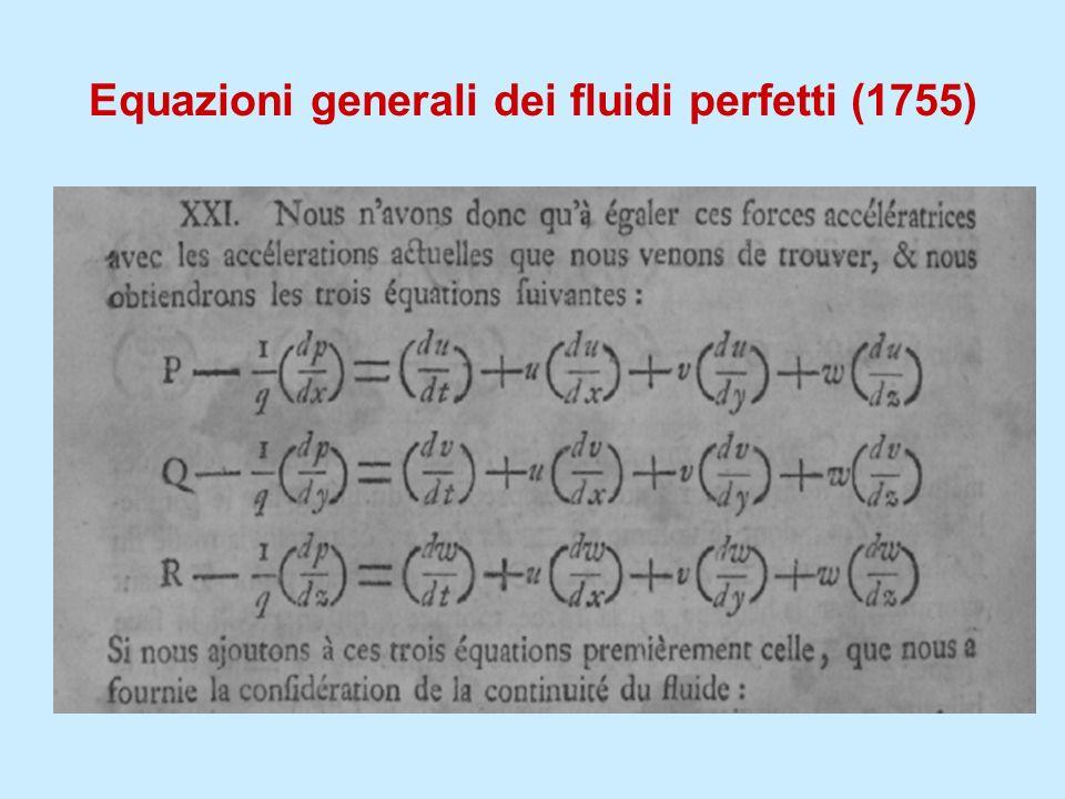 Equazioni generali dei fluidi perfetti (1755)