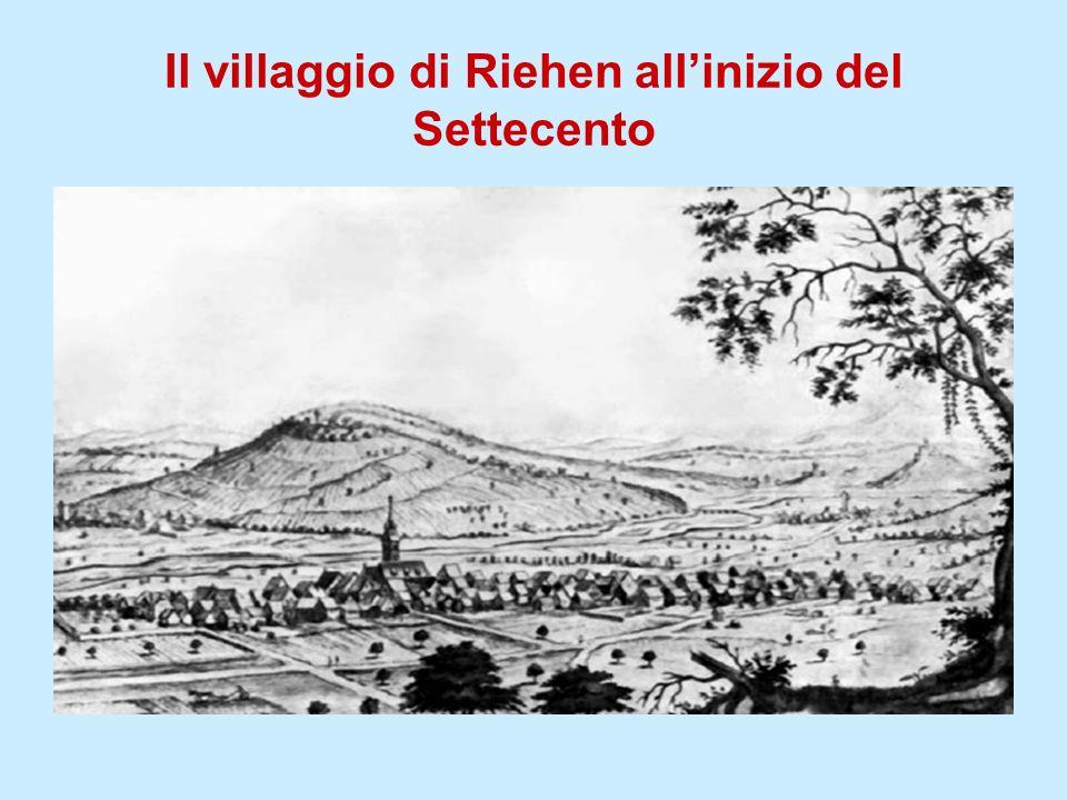 Il villaggio di Riehen allinizio del Settecento