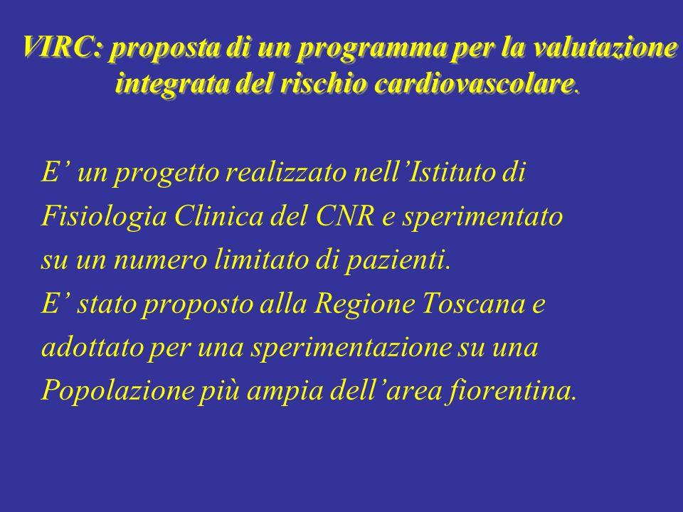 VIRC: proposta di un programma per la valutazione integrata del rischio cardiovascolare. E un progetto realizzato nellIstituto di Fisiologia Clinica d