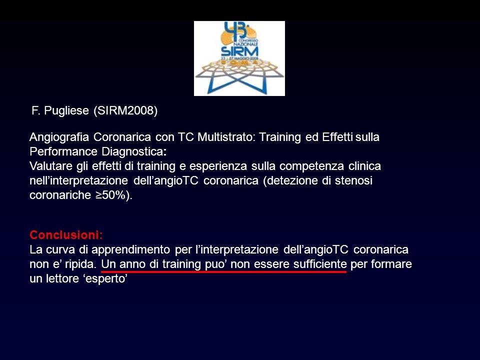 Angiografia Coronarica con TC Multistrato: Training ed Effetti sulla Performance Diagnostica: Valutare gli effetti di training e esperienza sulla comp