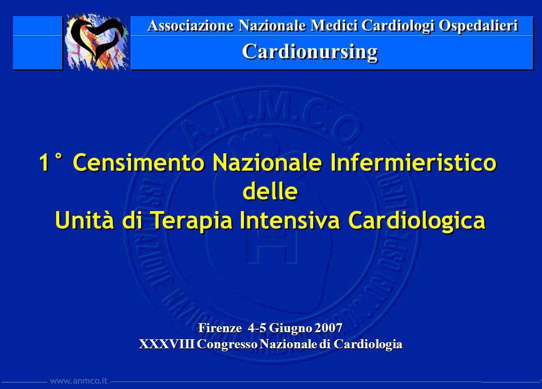 Associazione Nazionale Medici Cardiologi Ospedalieri Cardionursing Firenze 4-5 Giugno 2007 XXXVIII Congresso Nazionale di Cardiologia Firenze 4-5 Giug