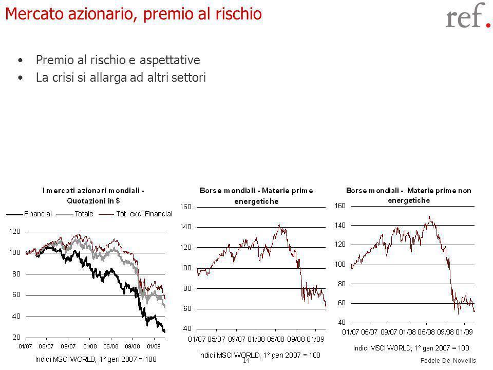 Fedele De Novellis 14 Mercato azionario, premio al rischio Premio al rischio e aspettative La crisi si allarga ad altri settori