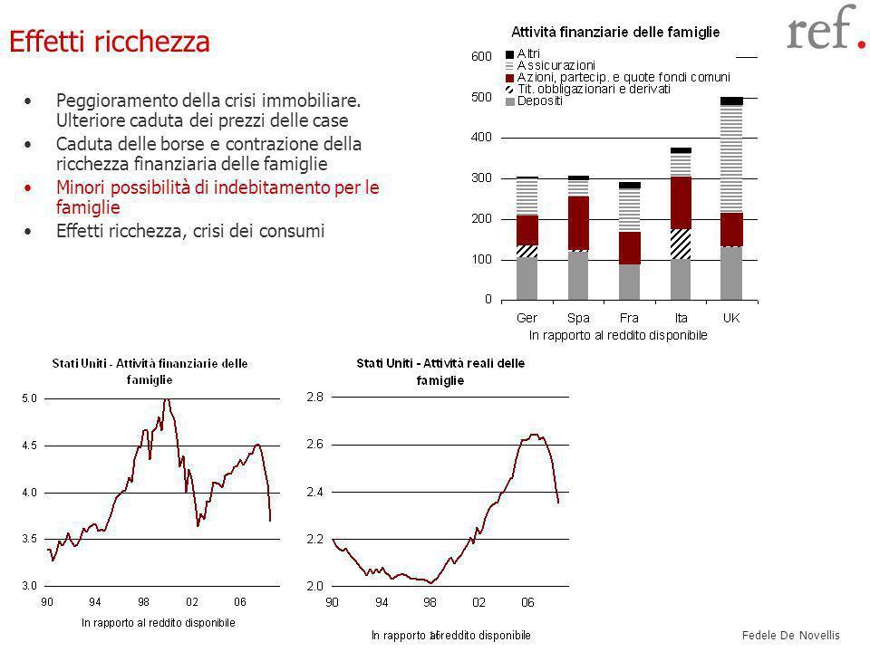 Fedele De Novellis 16 Effetti ricchezza Peggioramento della crisi immobiliare.