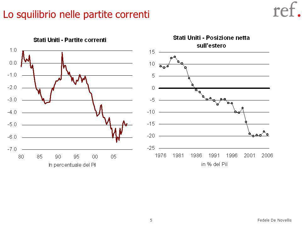 Fedele De Novellis 5 Lo squilibrio nelle partite correnti