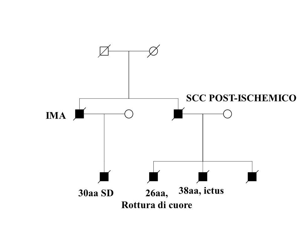 IMA SCC POST-ISCHEMICO 30aa SD26aa, Rottura di cuore 38aa, ictus