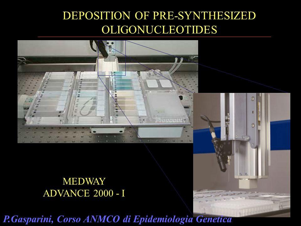 MEDWAY ADVANCE 2000 - I DEPOSITION OF PRE-SYNTHESIZED OLIGONUCLEOTIDES P.Gasparini, Corso ANMCO di Epidemiologia Genetica