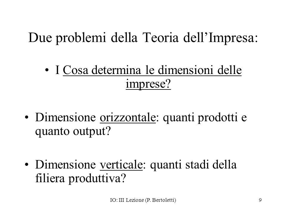 IO: III Lezione (P.