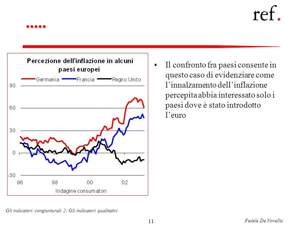 Fedele De Novellis Gli indicatori congiunturali 2: Gli indicatori qualitativi 11.....