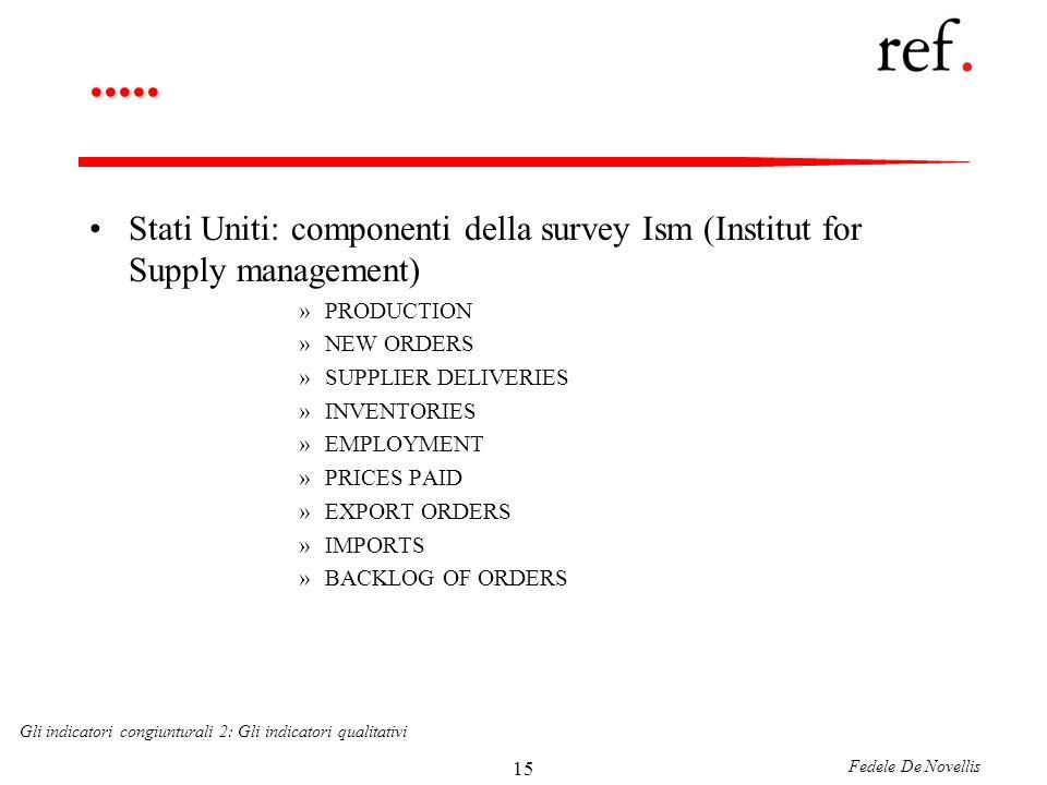 Fedele De Novellis Gli indicatori congiunturali 2: Gli indicatori qualitativi 15.....