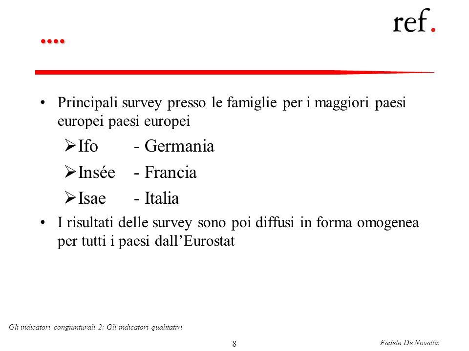 Fedele De Novellis Gli indicatori congiunturali 2: Gli indicatori qualitativi 19.....