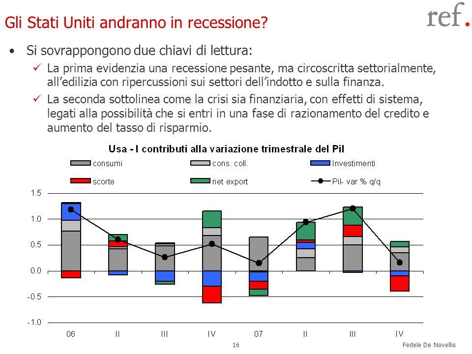Fedele De Novellis 16 Gli Stati Uniti andranno in recessione.