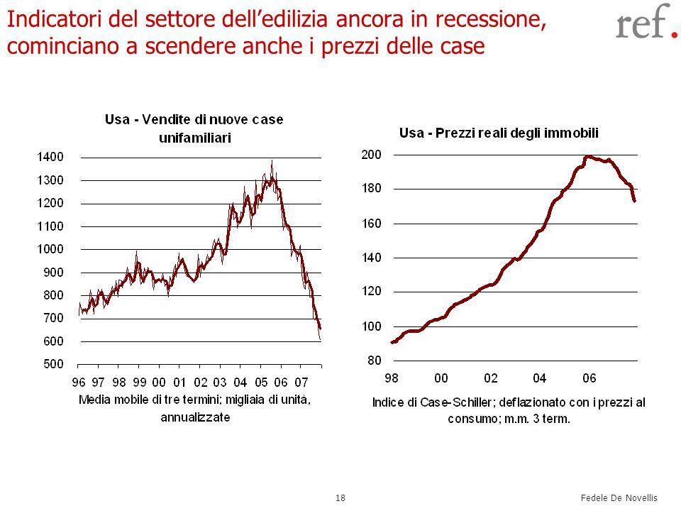 Fedele De Novellis 18 Indicatori del settore delledilizia ancora in recessione, cominciano a scendere anche i prezzi delle case