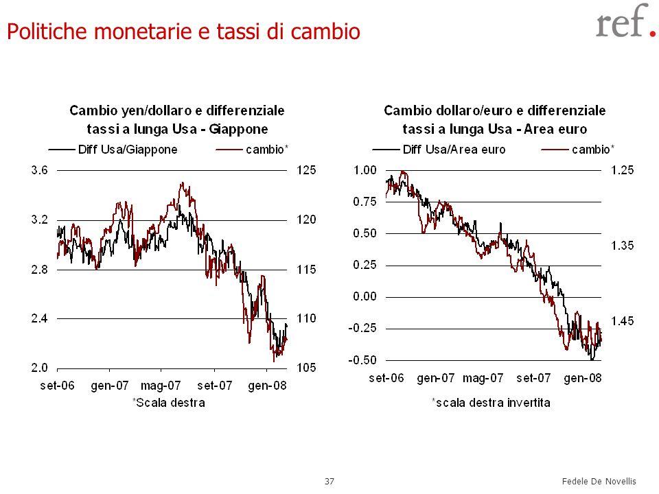 Fedele De Novellis 37 Politiche monetarie e tassi di cambio