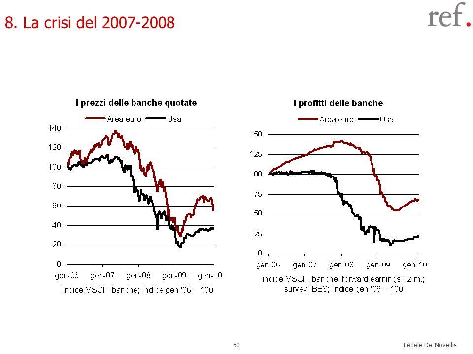 Fedele De Novellis 50 8. La crisi del 2007-2008