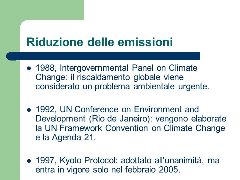 Riduzione delle emissioni 1988, Intergovernmental Panel on Climate Change: il riscaldamento globale viene considerato un problema ambientale urgente.