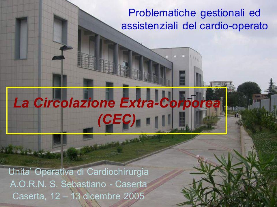 La Circolazione Extra-Corporea (CEC) Unita Operativa di Cardiochirurgia A.O.R.N. S. Sebastiano - Caserta Caserta, 12 – 13 dicembre 2005 Problematiche