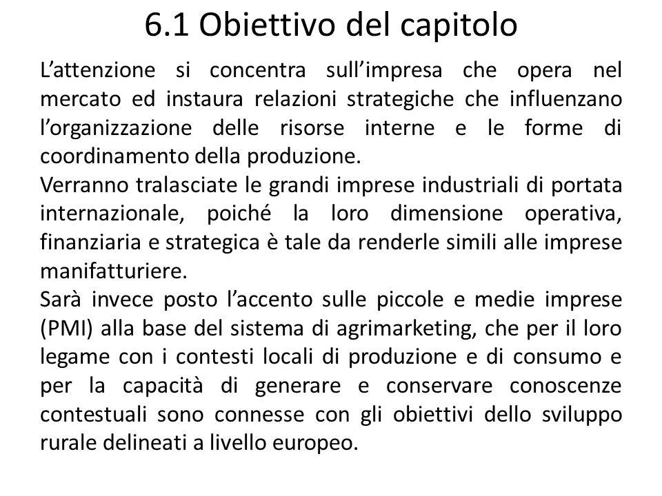 6.1 Obiettivo del capitolo Lattenzione si concentra sullimpresa che opera nel mercato ed instaura relazioni strategiche che influenzano lorganizzazion