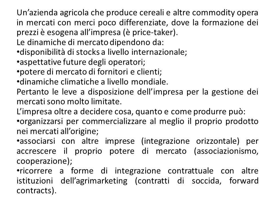 6.3 Limpresa agricola nel mercato delle speciality Limpresa agricola che realizza prodotti confezionati opera in mercati in cui si scambiano merci differenziate, nei quali la presenza di un marchio aziendale (brand) differenzia il prodotto da quello dei competitor.