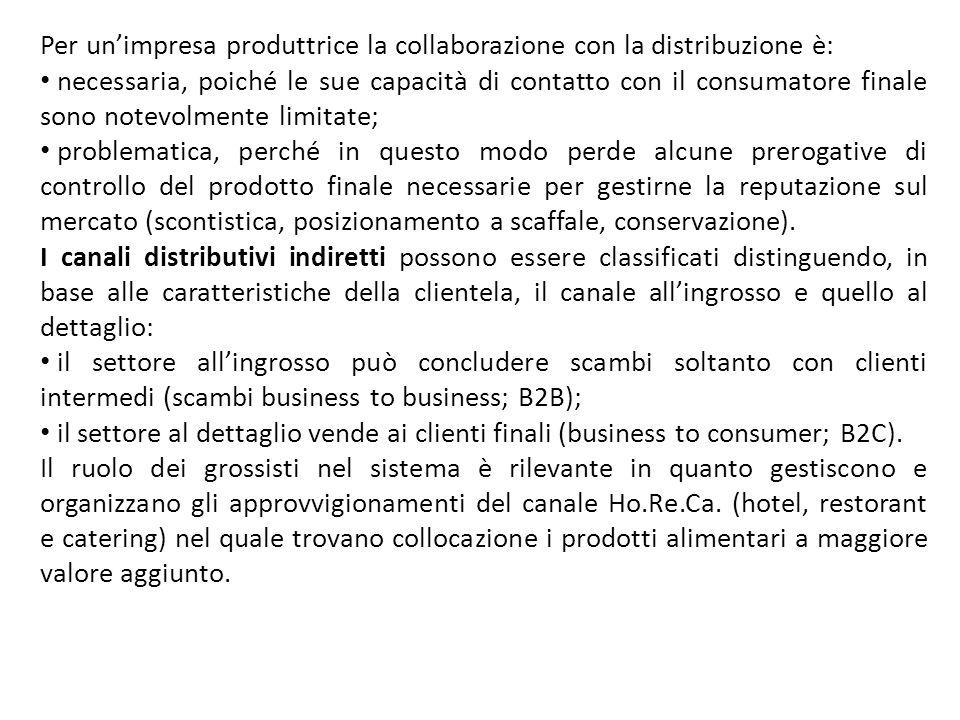 Per unimpresa produttrice la collaborazione con la distribuzione è: necessaria, poiché le sue capacità di contatto con il consumatore finale sono note