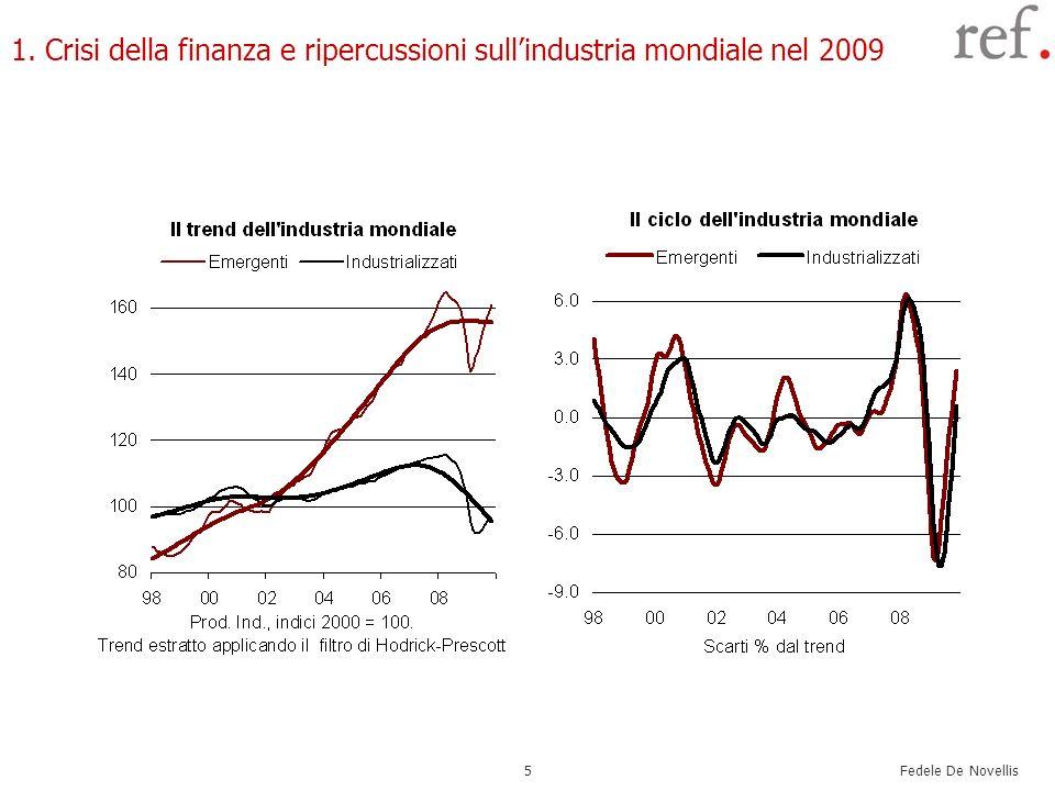 Fedele De Novellis 5 1. Crisi della finanza e ripercussioni sullindustria mondiale nel 2009