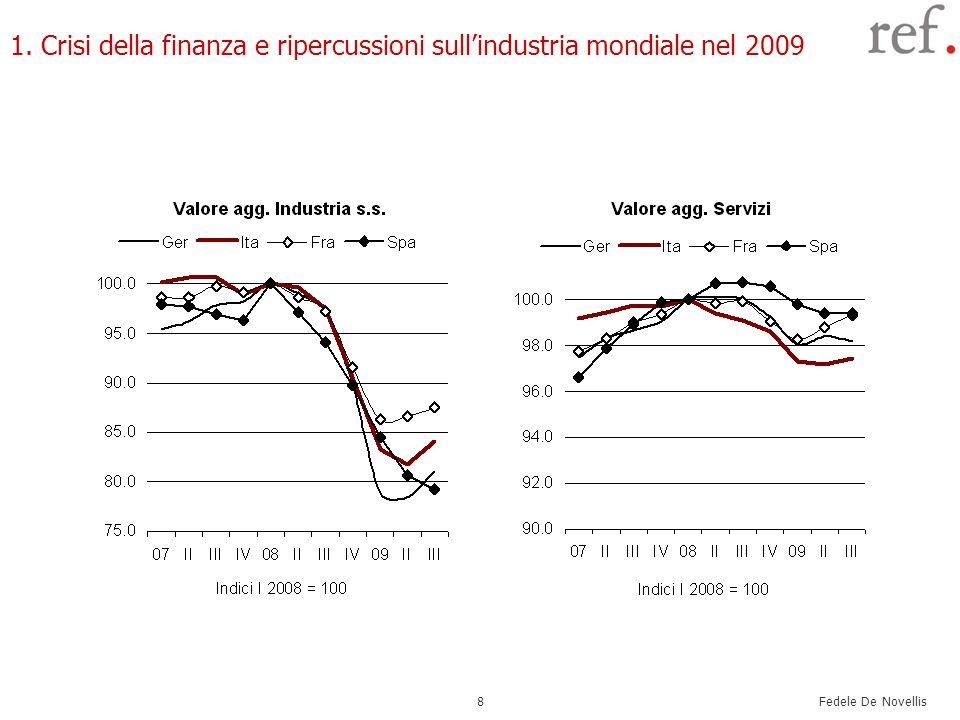 Fedele De Novellis 8 1. Crisi della finanza e ripercussioni sullindustria mondiale nel 2009