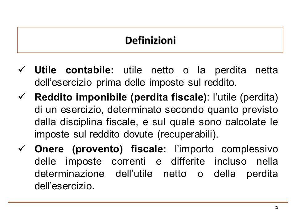 5 Utile contabile: utile netto o la perdita netta dellesercizio prima delle imposte sul reddito.