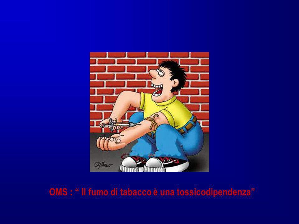 OMS : Il fumo di tabacco è una tossicodipendenza