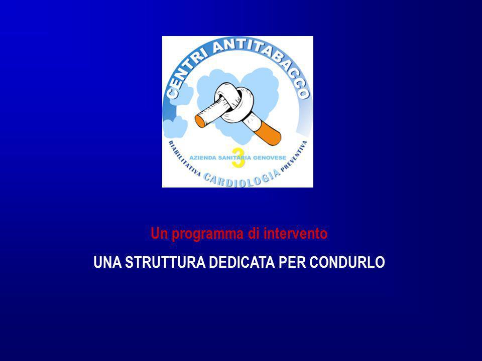 Un programma di intervento UNA STRUTTURA DEDICATA PER CONDURLO