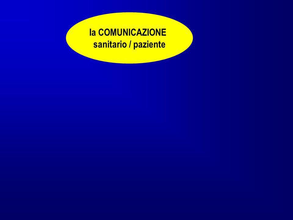 Ia COMUNICAZIONE sanitario / paziente