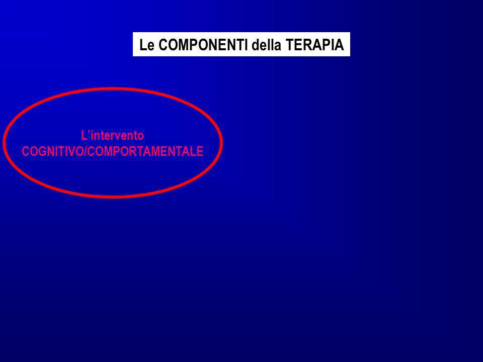 Lintervento COGNITIVO/COMPORTAMENTALE Le COMPONENTI della TERAPIA